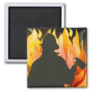 Fireman Fire Flame Rescue Destiny Digital Fridge Magnet