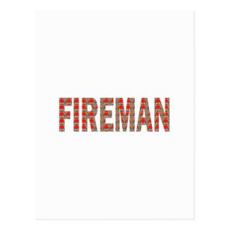 FIREMAN Fire Service : Risk Responsibility Danger Postcard