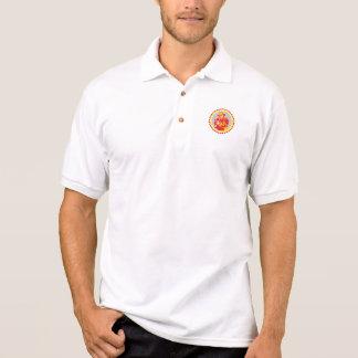 Fireman Firefighter Aiming Fire Hose Rosette Polo Shirts