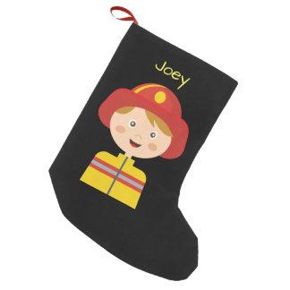 Fireman - Firefighter - Cartoon Small Christmas Stocking