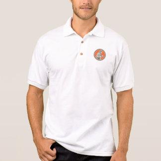 Fireman Firefighter Fire Hose Circle Retro Polo Shirt