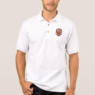 Fireman Firefighter Folding Arms Shield Retro Polo T-shirts