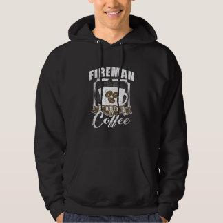 Fireman Fueled By Coffee Hoodie