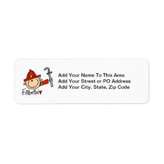 Fireman Return Address Label