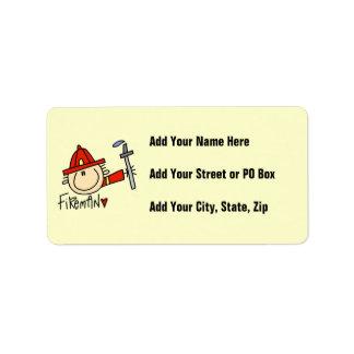 Fireman Address Label