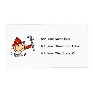 Fireman Shipping Label