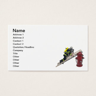 Fireman Ladder Fire Hydrant Business Card