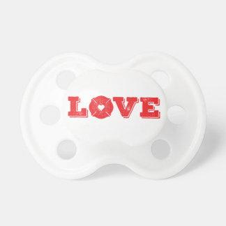 Fireman Love Firefighter Heart Logo Pacifier
