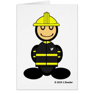 Fireman (plain) greeting cards