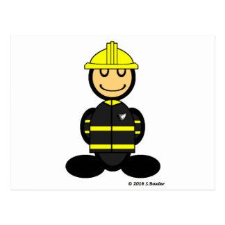 Fireman (plain) postcard