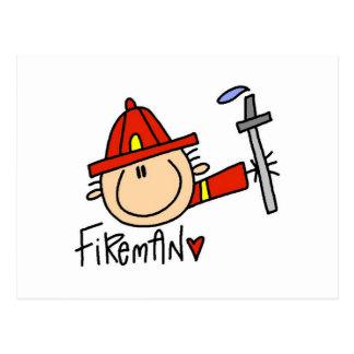 Fireman Post Card