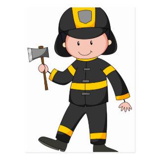 Fireman Postcard
