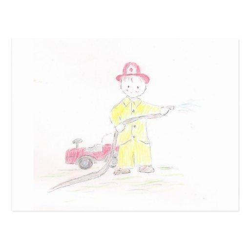 Fireman Post Cards