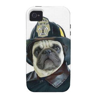 Fireman Pug Dog Vibe iPhone 4 Case