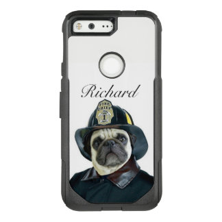 Fireman Pug Dog Google pixel phone case