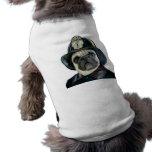 Fireman Pug t-shirt Pet Tshirt
