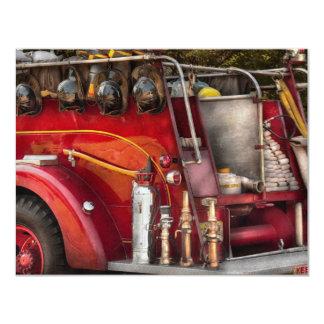 Fireman - Ready for a fire 11 Cm X 14 Cm Invitation Card