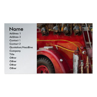 Fireman - Ready for a fire Pack Of Standard Business Cards