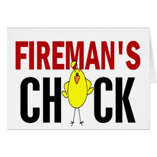 Fireman's Chick Card