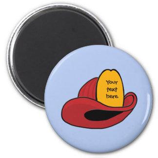 Fireman s Helmet Whimsical Cartoon Art Refrigerator Magnets