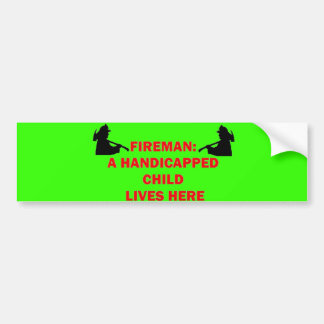 Fireman Save Handicapped Child Bumper Stickers