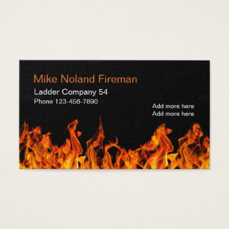 Fireman Simple Design Business Card
