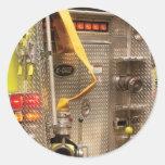 Fireman - Station - 36-3 Round Sticker