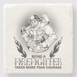 Fireman Stone Coaster