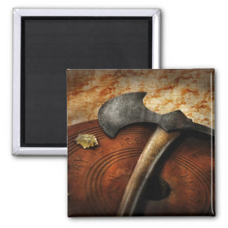 Fireman - The fire axe Square Magnet