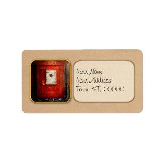 Fireman - The fire box Label