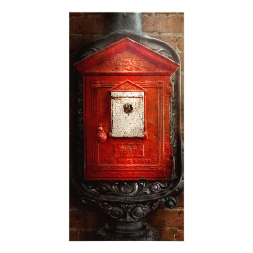 Fireman - The fire box Photo Card