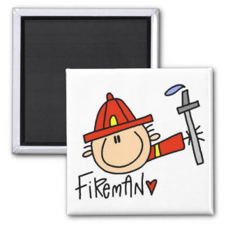 Fireman Tshirts and Gifts Square Magnet
