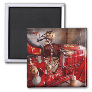 Fireman - Waiting for a call Square Magnet