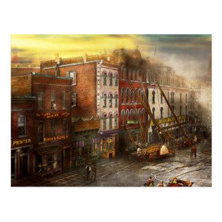 Fireman - Washington DC - Fire at Bedell's Bedding Postcard