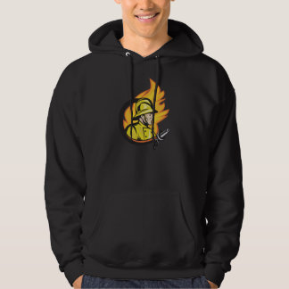 Fireman With A Hose Mens Hoodie
