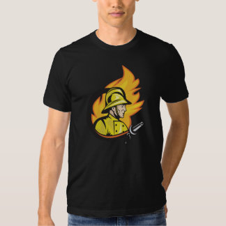 Fireman With A Hose Mens T-Shirt