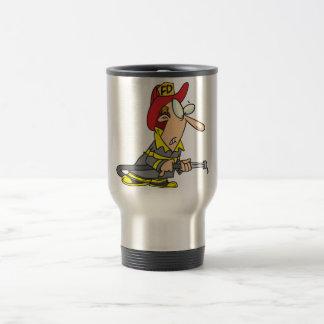 Fireman With Dry Firehose Travel Mug