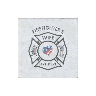 Fireman Wives Stone Magnet