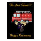 FIREMAN/WOMAN RETIREMENT GREETING CARD