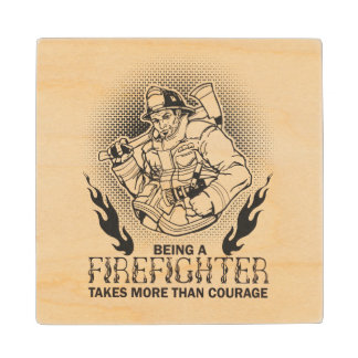 Fireman Wood Coaster