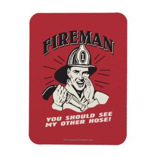 Fireman: You Should See My Other Hose Vinyl Magnet