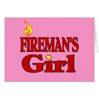 Fireman's Girl Greeting Card