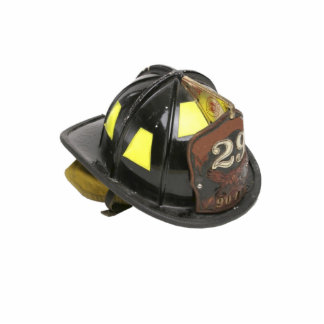 Fireman's helmet keychain photo sculpture key ring
