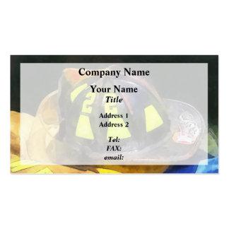 Fireman's Helmet on Uniform Business Cards