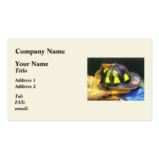 Fireman's Helmet on Uniform Business Card