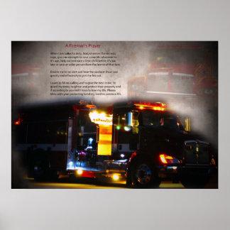 Fireman's Prayer Poster