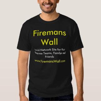 Firemans Wall Basic Black T-Shirt