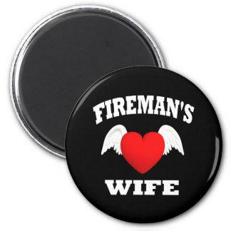 Fireman's Wife 6 Cm Round Magnet