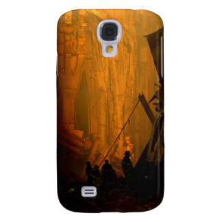 Firemen in the Rubble of the Twin Towers on 9/11 Samsung Galaxy S4 Cover