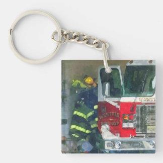Firemen - Inside the Fire Station Key Ring
